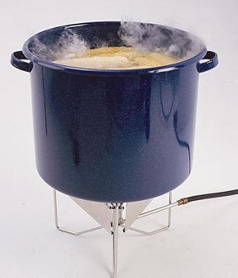 Pot of boiling Corn